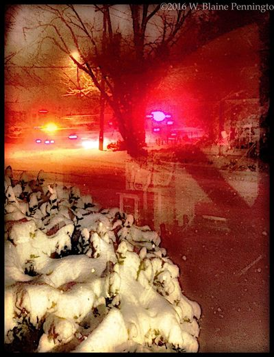 Middle of a blizzard, first responder's still gotta go Epic Snow Snowzilla Fire & Rescue Fire Department Fire Truck