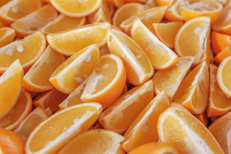 Slices of orange Backgrounds Close-up Day Food Food And Drink Freshness Full Frame Healthy Eating Indoors  Large Group Of Objects No People Orange Color Seed