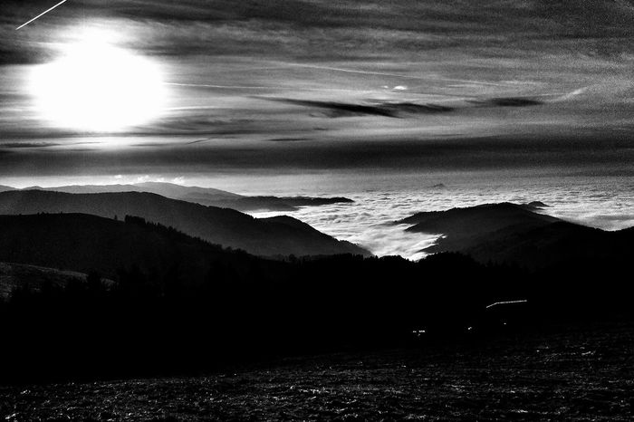 Naturelovers Nature Nature_collection Darkness And Light Blackandwhite Eye4black&white  Clouds And Sky Monochrome
