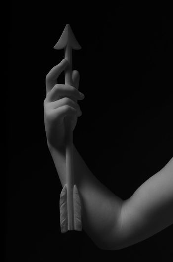 Black Background Body Part Close-up Cupid Cupid's Arrow Delicate Delicate Beauty Fingers Forearm Hand Sculpture Twisted Blackandwhite Photography Black And White Photography 50mm F1.8