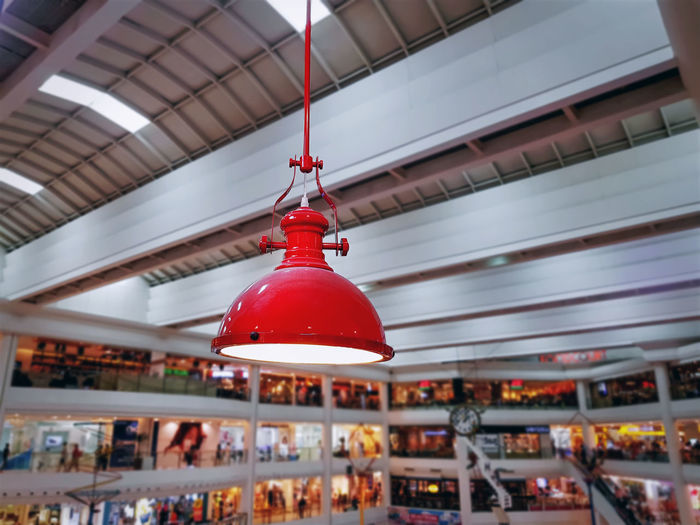 Lighting Equipment Hanging In Shopping Mall
