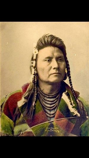 "Chief Joseph Native Pride Native Native American Indian (hin-mah-too-yah-lat-kekt) = ""Thunder traveling in the mountains"" Nez Perce, photo ca. 1898 by EA Rinehart."