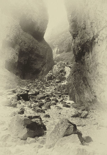 Yorkshire Geology Gordale Scar Landscape Nature Physical Geography Rock - Object Rock Formation Scenics Sepia_collection Tranquility