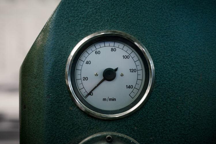Close-up of meter