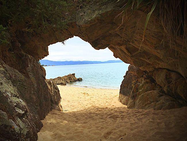Newzealand Sea Cave Nature Tata Beach Landscape Natural Arch Takaka CorsicanGirl