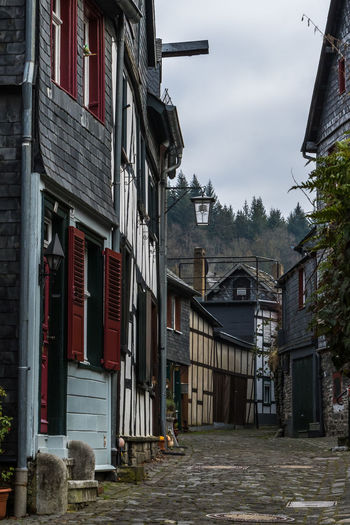 Monschau, Germany Monschau Monschau Eifel Germany Germany Architecture Building Exterior Built Structure Building Residential District House City Day No People Sky Street Window Outdoors Town Plant Cloud - Sky Village Old Community Row House