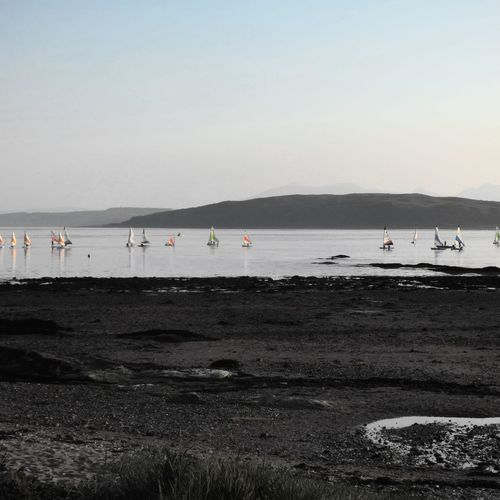The yacht club Beach Sea Water Outdoors Sand Nature Summer Large Group Of People Day Horizon Over Water Vacations Nautical Vessel Sky Beauty In Nature Scotland Scotlandsbeauty Horizon Tranquility EyeEmNewHere