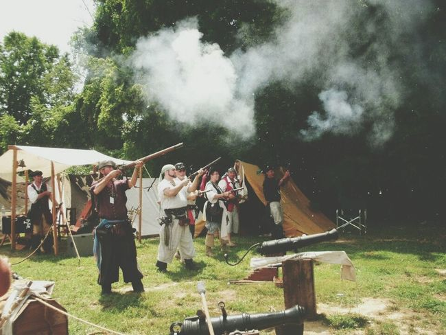 Showcase July 2016 People Together Peoplephotography Festival Time Pirates Pirate Festival Firing Guns Firing The Rifle. Firing The Cannon Festival Season
