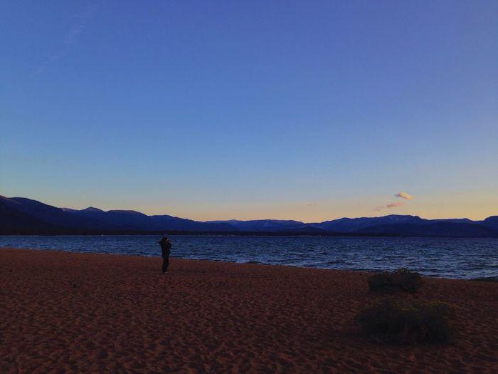 IPSSpace Sunset Mountains Lake Tahoe