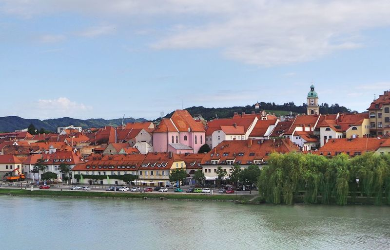 Architecture Building Exterior Built Structure City Cityscape Cloud Cloud - Sky Cloudy Drava Lent Maribor Mountain No People Outdoors Residential Building Residential District The Colour Of Life River Sky Slovenia Town Hidden Gems  Travel Destinations Water My Year My View
