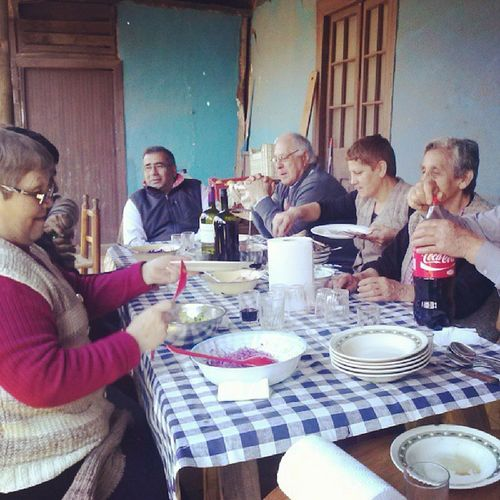 Almuerzo Con Una Parte De Mi Gran Familia :33 18septiembre Instachile Fiestaspatrias Almuerzo compartiendo familia