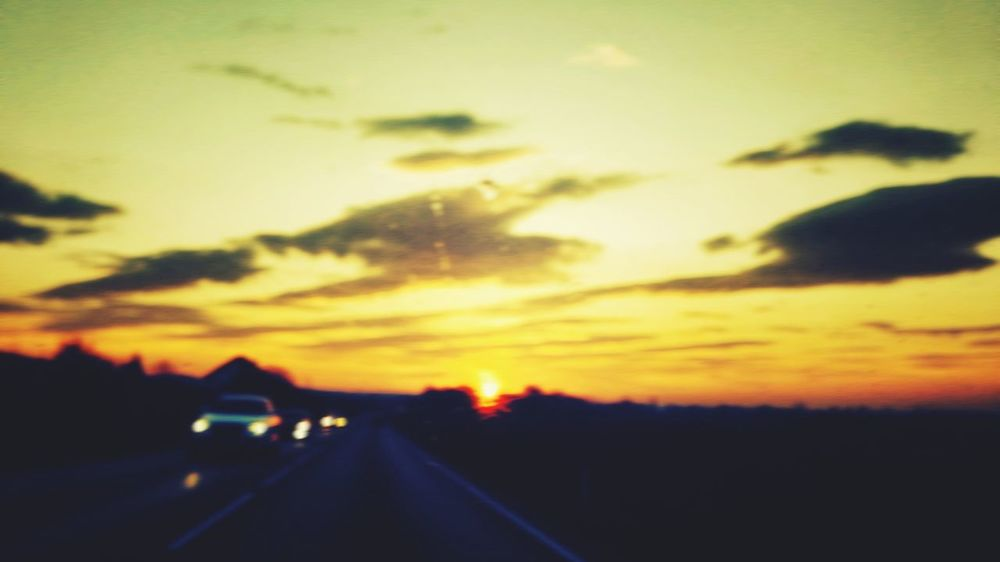 Diffused.. Sunrise Good Morning On The Road