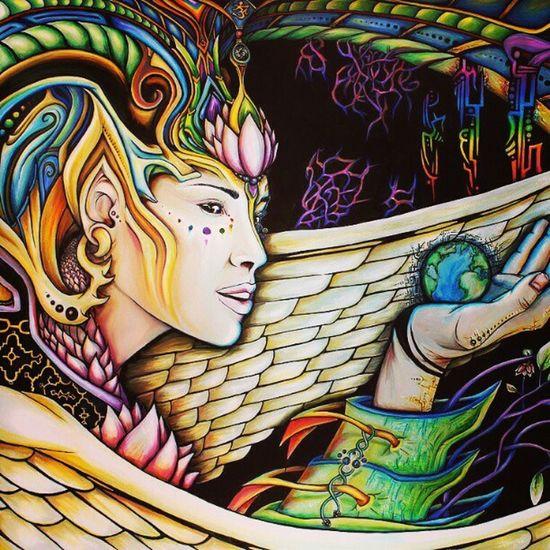 Beauty Goddess Pyschedelic