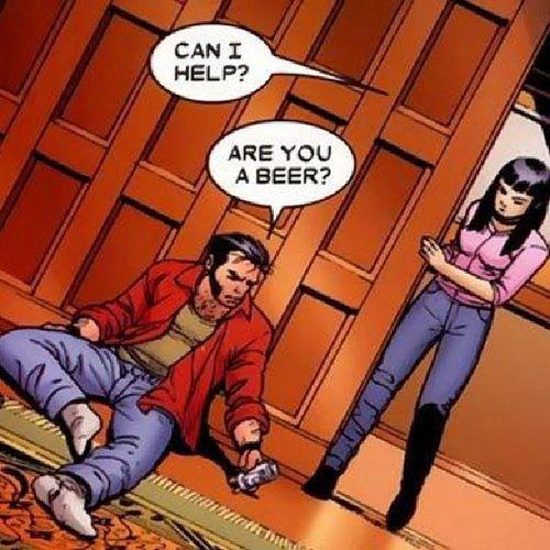cumartesi akşamını evde geçirince ben... Saturdaynight Beer Canihelpyou Areyouabeer logan wolverine
