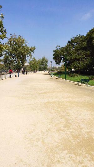 Alongside the river Paris Laseine Citylife Park