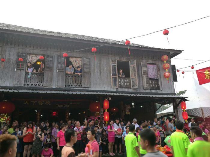 Siniawan, Kuching Building From Years Gone By Chap Goh Mei Lion Dance dragon dance