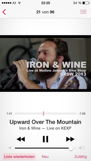 Last Song Of The Day Listening To Music Iron & Wine