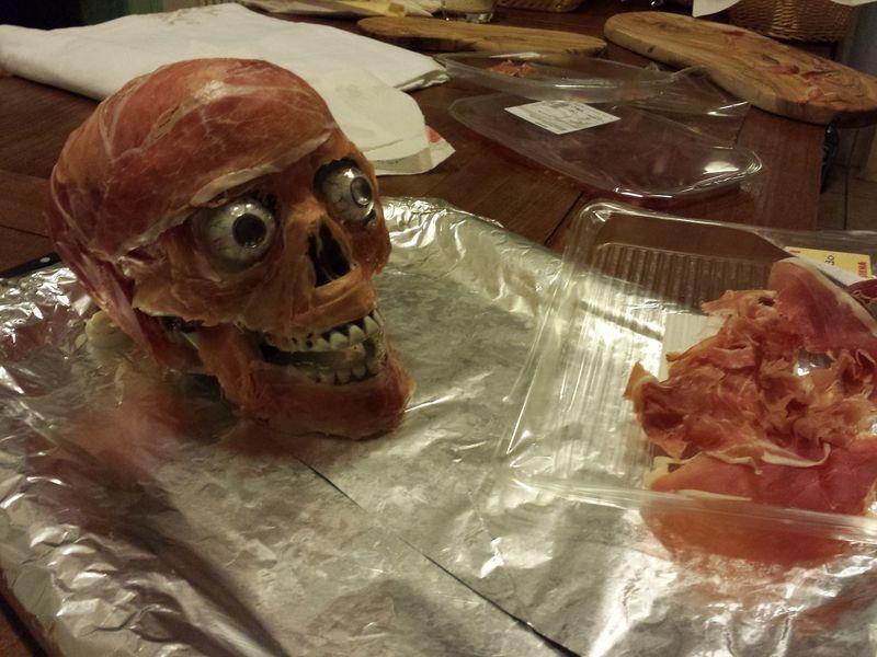 Prosciutto skull (well was actually more speck) Halloween Halloween EyeEm Halloween Horrors Halloween_Collection Ham Prosciuttodiparma Halloweenparty Prosciutto Prosciutto Crudo Prosciuttocrudo Skull Skull Art Skull Face Skulls And Bones Speck