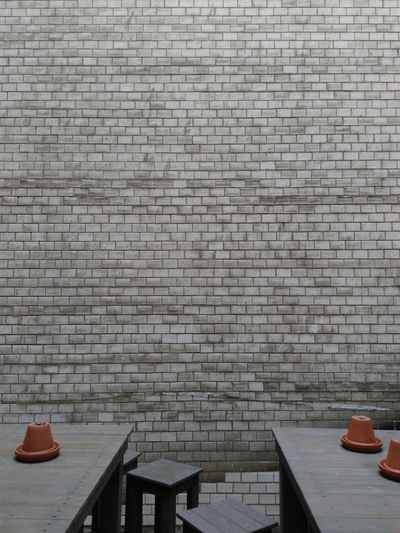 Brick Brick Wall Architecture Tische Tables Wall Wand Leipzig Germany Wall - Building Feature Built Structure Paving Stone Architectural Feature