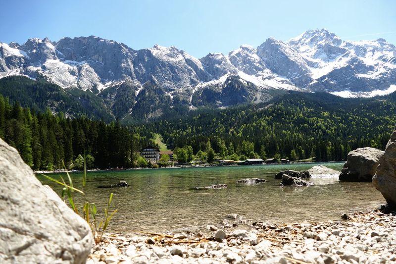 Berge Mountain Alpen Alps Zugspitze Eibsee Landschaft Landscape Nature Natur Bergsee Sea See