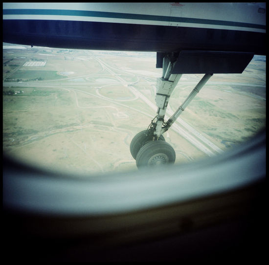 Touch Down with a smal plane Analogue Photography Canada Dramatic Flight Fast Flight Fast Landing Flight Flugzeug Flugzeugreifen Flying Of America Iron Bird Landing Landing Stripe Lomography Medium Format No People North America Perfect Flight Plane Plane And Sky Plane Tyre Plane Window Planespotting Small Plane Technology And Nature Xpro