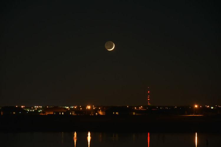 Deep Night Sk Lake At D Moon