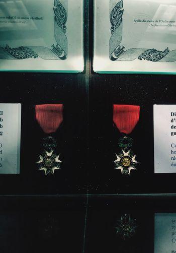 Medaille History No People Indoors  Patriotism Flag Pattern Full Frame Design Close-up