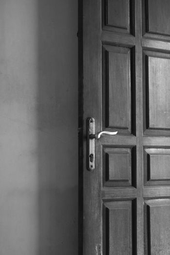 the door is the main entrance, indonesia 2019 Door Door Knocker Door Handle Door Knob Door Lock Door County Handle Entrance Closed Lock Wood - Material Knob Architecture Doorway Building Exterior Built Structure Latch Building Balackandwhite Black And White Background Wallpaper Front Door Protection