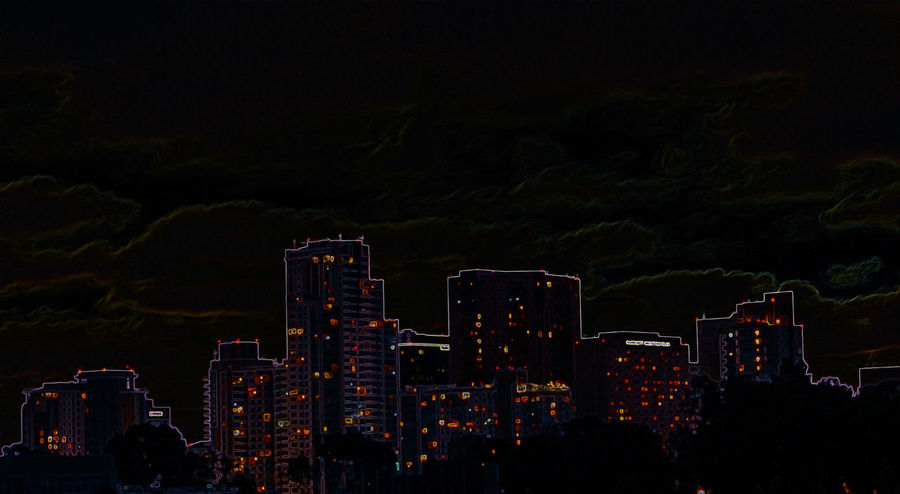 Architecture Building Exterior Built Structure City City Planning Cityscape Digital Art Energy Growth Illuminated Illustration Modern Night No People Outdoors Power Consume Power Grid City Power In Nature Sky Skyscraper Travel Destinations Urban Skyline