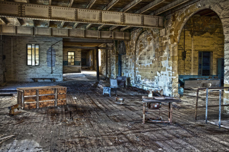 Emptiness Abandoned Absence Antique Architecture Built Structure Chair Day Furniture History Indoors  No People Old Old-fashioned Rotting Rubble Rustic Table Window Wood - Material