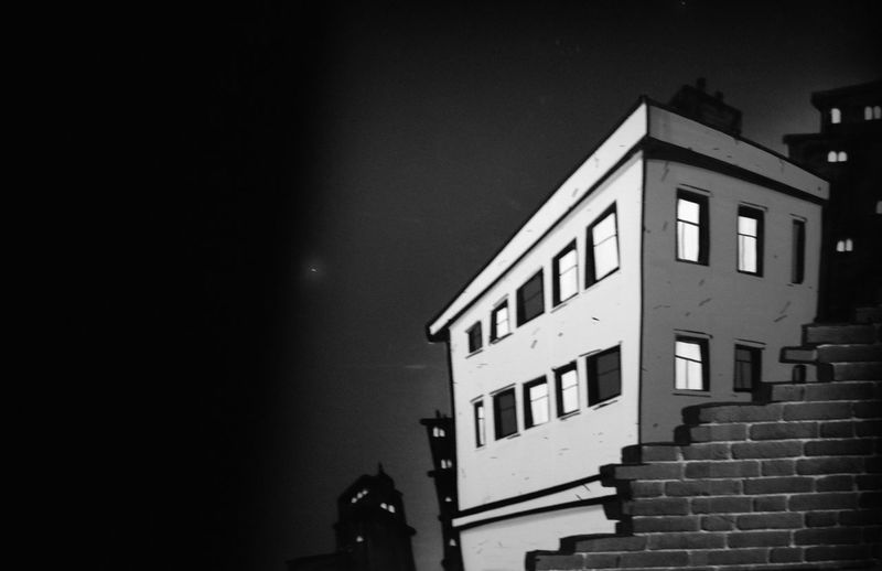 Magic City Architecture Artalpine Black And White Friday Building Exterior Built Structure Clear Sky House Illuminated Night No People Outdoors Sky