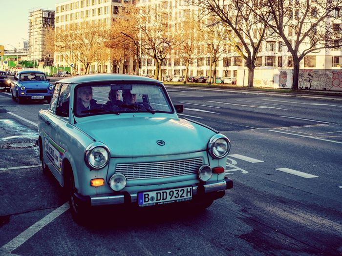 Transportation Land Vehicle Old-fashioned Retro Styled Car Street City Mode Of Transport No People Outdoors Architecture Nature Day Germany Capture Berlin Berlin Vintage Vintage Cars