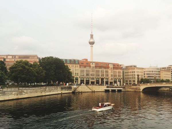 Berlin Spree Museum Island Boat Tour Television Tower