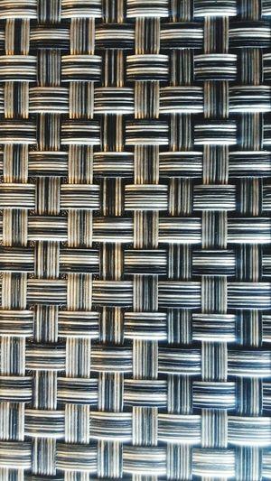 Full frame shot of woven chair