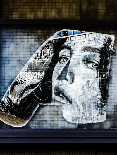 Photographic Approximation Streetart/graffiti Chasing Art Around The Streets Stare Back At You...