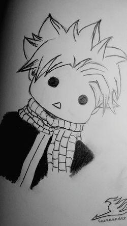 Natsu Dragneel Fairy Tail I Am Begginer... Drawing Art Free Time Cute Kawaii? Salamander