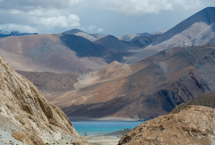 Mountains and Pangong Lake, Leh Ladakh , India Day Ice Lake Landscape Mountain Mountain Range Nature No People Outdoors Scenics Sky Wilderness