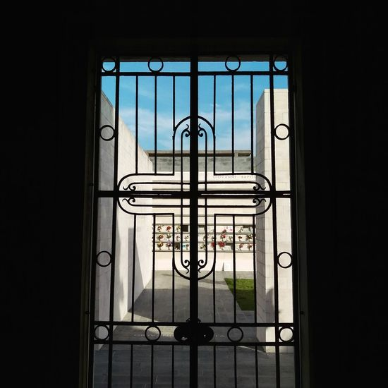 Venice San Michele Grave Graveyard Cemetery Religion Religious Architecture Italy Metal Grate Wrought Iron Security Bar Window Politics And Government Gate Metal Sky Architecture Close-up Entryway Closed Entry Door Entrance Locked