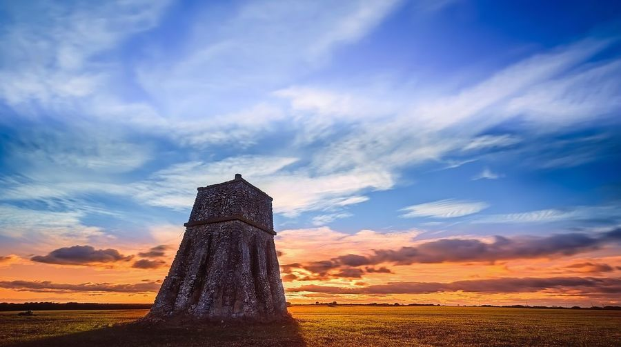Optic telegraph Abandoned Buildings Abandoned Places Abandoned Tower Cloud - Sky Clouds Sky Cloud - Sky Sunset No People Outdoors Architecture Day EyeEmNewHere Colour Your Horizn