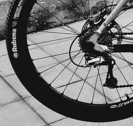 Bicycle Full Length Pedal Cycling One Person Outdoors People Stunt Day Adult Tire Spoke Adults Only One Man Only Blackandwhite Photography Black And White Montainbike Blackandwhite No People Tranquility