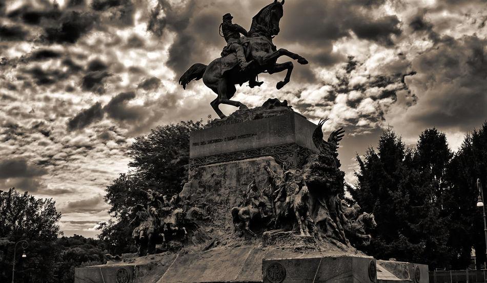 """PROJECT 'BLACKWALT' - DAY 5: """"TIME TO WAR"""" - Il monumento equestre ad Amedeo di Savoia duca d'Aosta (1845-1890), ritratto in divisa sul cavallo impennato, fu realizzato da Davide Calandra (1856-1915) e posto nel 1902 al parco del Valentino. Sull'alto basamento sono raffigurati, in una composizione dinamica, tutti i principali rappresentanti della stirpe Sabauda. - My NEW PROJECT, CODENAME: 'BLACKWALT'. IT' - BLACKWALT è il mio nuovo progetto per il bianco e nero, non legato ad uno standard, se non il bianco e nero in se stesso. Vi darò modo di vedere cio che fotografo, come li vedono i miei occhi e la mia fantasia in monocromo EN' - BLACKWALT is my new project for black and white, not tied to a standard, if not the black and white in himself. I will give you a way to see what that photographer, as they see my eyes and my imagination in monochrome. Samsung Smart System User 'Samsung NX10 Camera and Samsung K Mount MA9NXK' Foto and Writing by """"Maximilien Rastello Photographer © 2015"""" MaximilienRastello PROJECT BLACKWALT Torino Italy Black & White Eye4photography  EyeEm Best Shots - Black + White Black And White Blackandwhite Travel"""