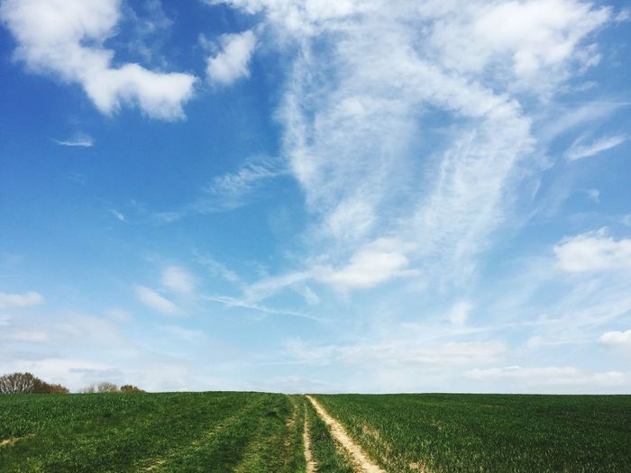 Clear Sky Thinking Clear Sky Spring Countryside Field Walking Cheshire Path