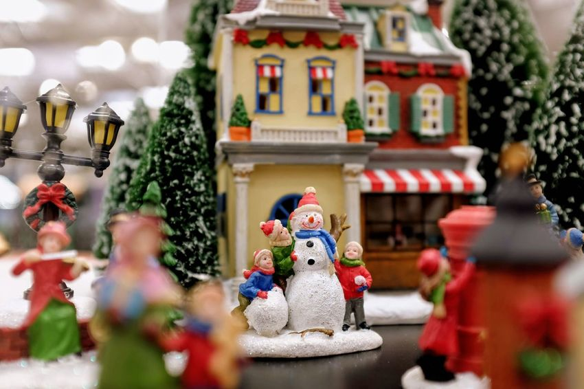 Visual Journal October 2018 Omaha, Nebraska S.ramos October 2018 Visual Journal Photo Diary Always Making Photographs Camera Work EyeEm Best Shots Getty Images Photo Essay FUJIFILM X100S 35mm Camera Long Form Storytelling A Day In The Life Everyday Life Christmas Village Christmas Christmas Decoration Diorama Shopping Snowman Shallow Depth Of Field Macro Photography Miniatures Representation Human Representation Art And Craft Creativity Male Likeness Sculpture Religion Statue Belief No People Architecture Built Structure Selective Focus Spirituality Figurine  Holiday Day Plant Building Nature