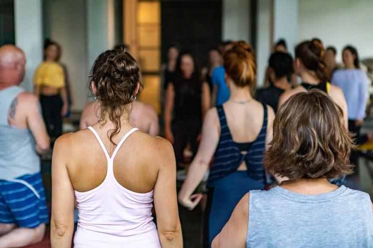 Rear view of people dancing