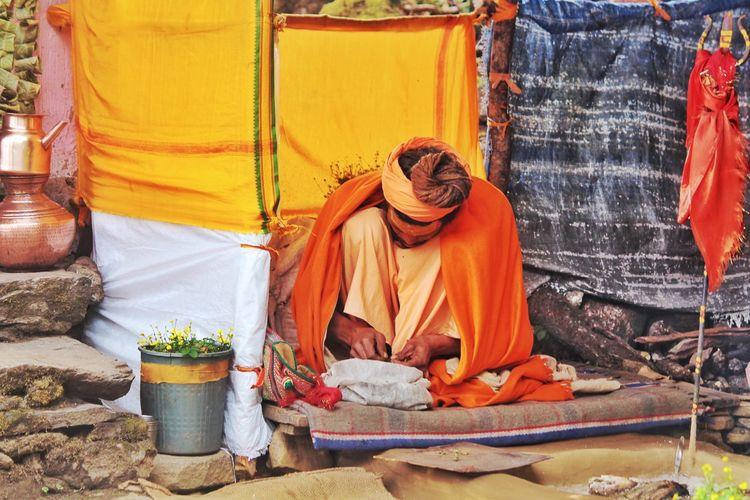 Sadhu wearing traditional clothing