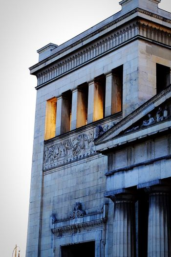 Propylea at Königsplatz Architecture Built Structure Low Angle View Building Exterior Architectural Column No People Outdoors Day Sky City Pediment Königsplatz Munich Monument Gate Propylea City Gate Ionic