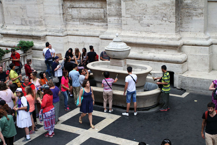Vatican Adult Architecture Building Exterior Built Structure Casual Clothing Crowd Day Group Of People History Large Group Of People Leisure Activity Lifestyles Men Outdoors Real People The Past Tourism Travel Travel Destinations Visit Women