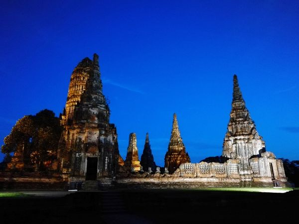 Architecture History Business Finance And Industry Travel Destinations Religion Night No People Ancient Civilization Outdoors Architecture Temple Cityscape Temple - Building Ayutthaya Ayutthaya | Thailand Wat Chaiwatthanaram Old Buildings
