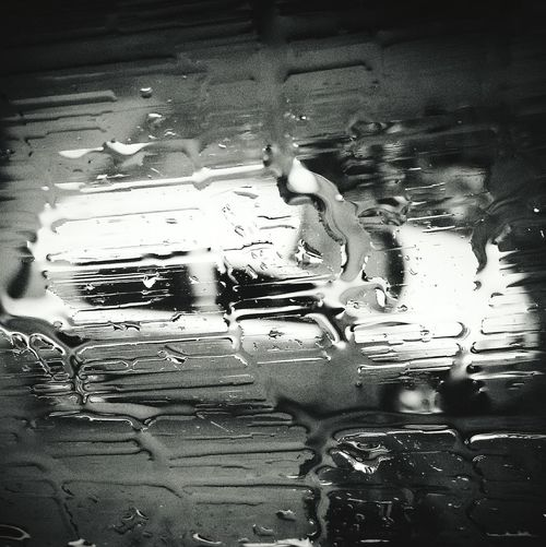 Rainy Days ☔ No.3 of a series. Car Transportation Wet Rain Mode Of Transport Rainy Season Water Drop Weather Street Full Frame Backgrounds Window RainDrop Travel Views From Windows City Life No People RainDrop Rain Abstract City English Summer Rain Rain Streaked Windows The Week On EyeEm Black And White Friday