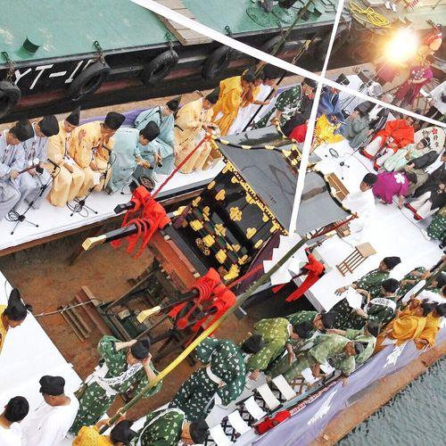OSAKA Osaka City Osaka,Japan Japanese Festival Tenjin Matsuri 天神祭 天神橋 大阪天満宮 船渡御 Osakatenmangu Japanesegod